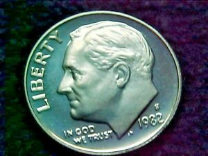 1982 S  PROOF   ROOSEVELT DIME  FROM PROOF SET