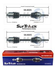 For Saturn L100 L200 LS LW1 FWD 00-05 Pair of Front CV Axle Shafts SurTrack Set