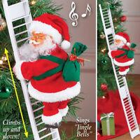 Electric Climbing Ladder Santa Claus Xmas Party Music Figurine Decor Toy SALE