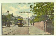 tp3268 - Tram on Osmaston Road , Derby - postcard