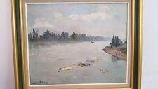 Peinture paysage signée André SCHMITT (1888-1961) peintre Alsacien