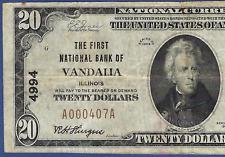 IL 1929 $20 ♚♚ VANDALIA, ILLINOIS ♚♚