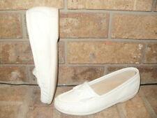 SAS Softie White Leather Tassel/Kiltie loafer 7 S / Comfort/ USA Nice