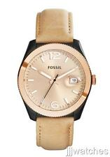 Fossil Perfect Boyfriend Leather Rose Gold Women Date Watch 40mm  ES3777 $135