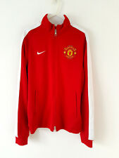 Manchester United Track Top Jacket. Small Adults. Nike Red Football Man Utd Coat