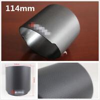 Durable 114mm Matte Black Carbon Fiber Car Truck Exhaust Muffler Pipe Tip Cover
