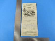 Vintage Vermont Mutual Fire Insurance Co Bill and Contract 1929 Montpelier S4088