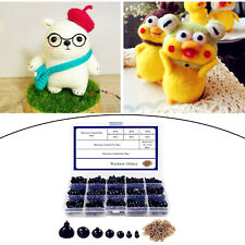 Doll Safety Eyes Noses with Storage Case for Teddy Bear Toys Crochet Black