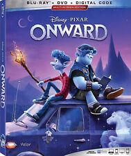 Onward Blu-Ray + Dvd Like-New No Digital Pixar Disney Chris Pratt Free Shipping