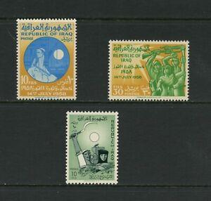 G446 Irak 1959 Revolution & Récolte 3v. MNH