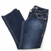 "Seven7 Women's Size 6P Petite Bootcut Jeans Dark Wash Denim 28"" Inseam"