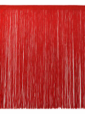 """12"""" Chainette Fringe Trim, Style# CF12 Color: Red - 06, Sold By the Yard"""
