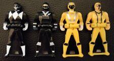 Lot of 4 Black Yellow Power Rangers Super Megaforce Legendary Ranger Key Set