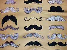 CLEARANCE FQ Funky moustache tissu Kitsch Hipster Alexander Henry