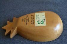AD HARRY'S CABINET Monkey Pod Wood Carved Pineapple Shape Bowl Vintage Hawaii