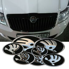 Set of 7 pcs. Skoda Fabia Octavia A3, A5, A7 Superb logo Badges Emblems STICKERS