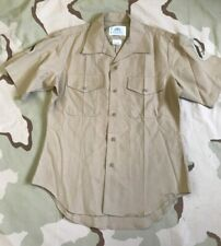 US MARINE USMC DRESS SHIRT KHAKI 2122 MAN'S POLY/WOOL LANCE CORPORAL LCPL SZ 15