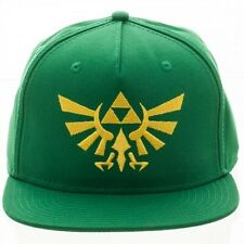 OFFICIAL NINTENDO'S THE LEGEND OF ZELDA TRIFORCE SYMBOL GREEN SNAPBACK CAP (NEW)
