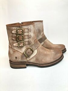 Frye Veronica Belted Short 70581 Womens Suede Distressed Casual Dress Boots sz 8
