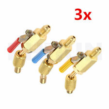 3x Car Charging Hose Adapter A/C HVAC R134a R22 R12 R410a Refrigerant Refill Kit