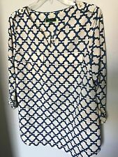 C Wonder Blue/White Top - Size 8
