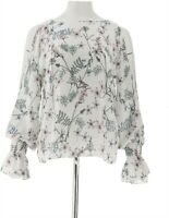 Vince Camuto Flare Cuff Cold Shoulder Floral Blouse NEW Ivory 3X NEW A306712