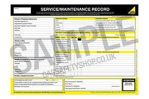 Gas Safe - Service & Maintenance Record