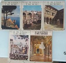 Le vie d'Italia e del mondo, 5 Volumi 1933-1936 - Touring Club Italiano - G