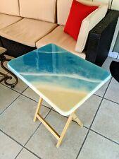 Handmade Resin Beach Folding Table