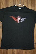 Alchemy Gothic Skinny T-Shirt Transit of Daemos Skull Design, Size M/L
