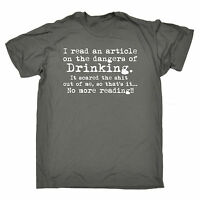 Dangers Of Drinking MENS T-SHIRT birthday booze beer wine alcohol funny gift