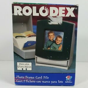 Rolodex Photo Frame Card File 1999 Hunter Green, Organize Personal Contacts