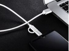BUY 2 GET 1 FREE Braided Micro USB Charger Cable 2 in 1 Apple iPhone and Samsung