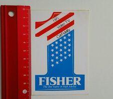 ADESIVI/Sticker: Fisher-The fine nome in alta fedeltà (04051615)