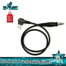 Z Tactical PTT-To-Walkie-talkie plug Adaptor For R.3 U series dual PTT / Headset
