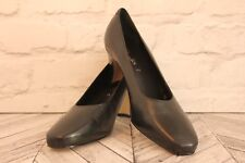 CLARKS Classic Black Leather Court Pumps High Heel Women's Shoes RRP £69 UK 7.5