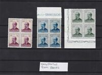 luxembourg 1947 national welfare fund stamps blocks ref 11862