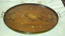Antique Georgian Wooden Oval Tray , Inlaid Mahogany. Circa  1800. 26 1/2 in.