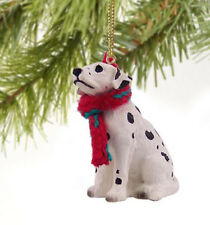 DALMATIAN DOG CHRISTMAS ORNAMENT HOLIDAY XMAS Figurine Scarf dalmation