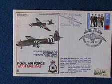 First Day Cover-RAF Flying Corps-Triple Stamped-13/4/72 MOD Langhurst/Biggin Hil