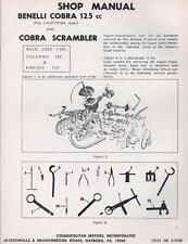 1960's Benelli 125cc/175cc/180cc 2-stroke Parts & Service: 6 different books