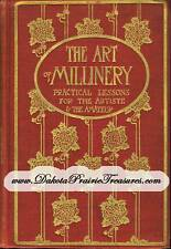 MILLINERY Book Hat Making Lessons YUSUF Make Your Own Hats 1909 DIY Milliner