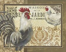ROOSTERS #3  MOUSE PAD  IMAGE FABRIC TOP RUBBER BACKED