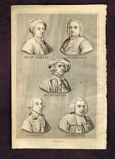 Allan Ramsay-Sir Joshua Reynolds-George Rodney-Antique Portraits Print 1841