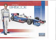 "2013 INDY 500 RYAN BRISCOE AUSTRALIA GANASSI RACING INDYCAR 8""X10"" HERO CARD"