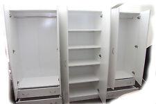 Budget 2400mm Wide White 3 Piece Wardrobe - BRAND NEW