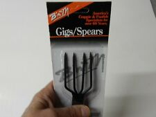 B'n'M Frog Gig/Spear, 4 Tine, Great for spearing frogs, Part#2PK (One Spear)