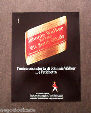 [GCG]  N954 - Advertising Pubblicità - 1975 - JOHNNIE WALKER OLD SCOTCH WHISKY