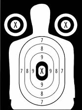 Police Pistol & Rifle Human Silhouette Shooting Targets - 19x25 - 31 Qty.