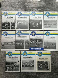 70er Jahre 1.FC Lok Leipzig - Jena Rostock Dresden Magdeburg HFC Gera FCV Böhlen